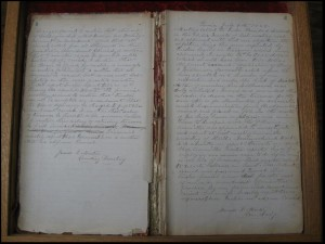 1888 Journal of meeting minutes.