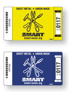 YELLOW AND BLUE SMART UNION LABELS